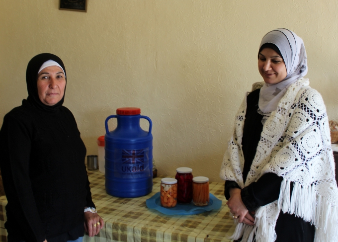Salwa and Hanan worked together to produce and market pickles