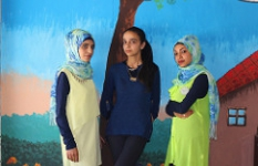 Ibtissam, Rana and Dalia. Three researchers who took part in Save the Children's Participatory Action Project, carried out by the Food Security and Livelihoods division in Bekaa